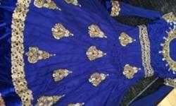 Very gorgeous blue Asian dress size 40 , medium , for
