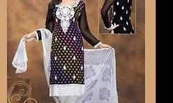 Size: Semi -Stitched Chiffon Indian suit( can be