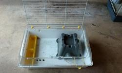 Used indoor cage for rabbit or 2 guinea pigs , small