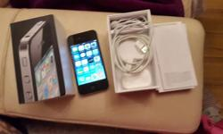 Iphone 4 with box and head set and charger is in good