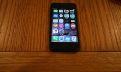 Used iPhone 5 for sale. Black / slate grey. 32GB Has