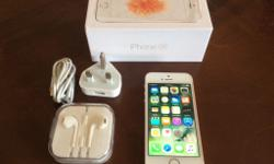 iPhone SE, 16gb, Rose Gold/White, Box, Charger and