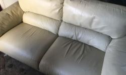 Quality expensive pair of leather sofas house move