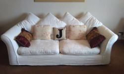 Three sofas from DFS. Colour ivory. 1x3 seater and 2x2