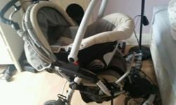Fantastic 3 wheeled travel system by Jane. Pushchair-