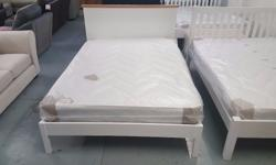 JOHN LEWIS DARTON Double Bed Frame Soft White & Oak And