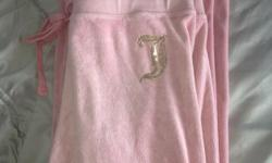 Juicy Couture Tracksuit Bottoms Light Pink With Gold