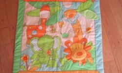 Beanstalk Jungle Playmat. 70x70cm play mat with squeaky