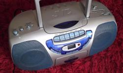 JVC radio/cassette/cd player. Superbase, Random repeat,