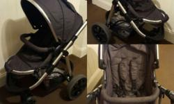 A lovely pram/pushchair that can be used from birth and