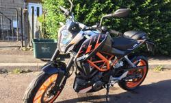 For sale is my mothers ktm duke 390 63 plate 2014 as