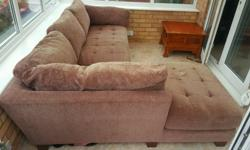 237 � 170 brown fabric sofa, sturdy and comfortable.