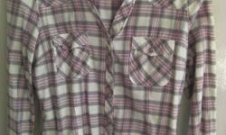 Ladies check shirt from Miss Selfridge. Two breast