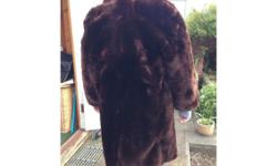 This is a mid length vintage brown fur coat that i have