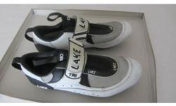 Lake triathlon cycle shoes. Fitted with Look KEO
