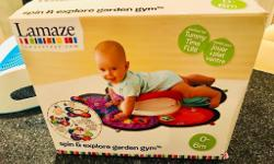 Lamaze tummy time spinner sensory mat Comes boxed