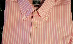 Lambretta mens pink striped shirt long sleeved only