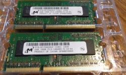 I recently upgraded the RAM on my laptop and these were