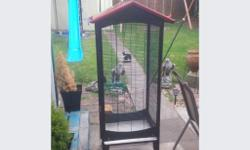 Hi I am selling my large bird cage or indoor aviary in