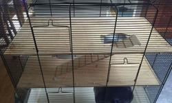 Large hamster cage, very good condition. 3 floors. 25