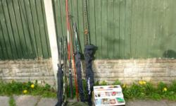 JOB LOT OF SEA FISHING BOAT AND 1 BEACH ROD AND LARGE