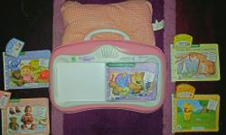 Leap frog little touch pad comes with 5 books and 4