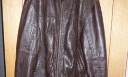 Brown leather biker style jacket (Next). Excellent