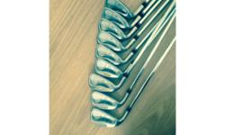 Set of TM oversize irons, lite steel shafts original