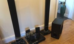 LG DVD surround sound system. Comes with DVD Player, 5