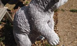 Great concrete bear cub great detail grey and white