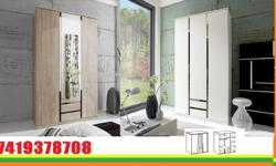 line wardrobe wardrobe with mirror 5 sheleves 1 hanging