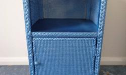 Lloyd loom basket weave bedside cabinet for sale.