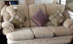 lovely fabric 3 seater and 2 chairs with italian