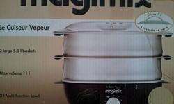 MAGIMIX ELECTRIC STEAM COOKER. MULTI TIERED STAINLESS