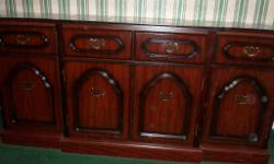 Dining or Living Room Mahogany Effect Sideboard in