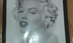"Marilyn Monroe Sketched picture. 13 x 18"". Origional"