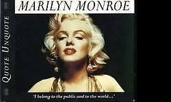 This book features Marilyn Monroe's thoughts on wealth