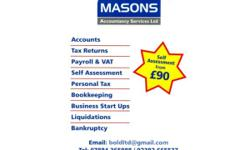 Accountancy services including; Self assessment tax