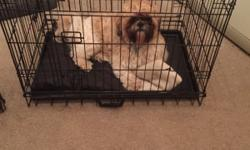 Medium size dog cage height 61 cm width 75 cm and depth