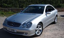 LOVELY SILVER COLOR MERCEDES BENZ CLK, BLACK UNMARKED