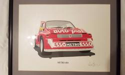Metro 6R4 framed signed Painting Print Limited edition