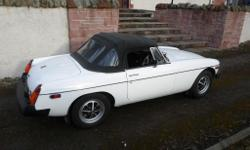 MGB Roadster, 1976, rubber bumper model. 48000miles.