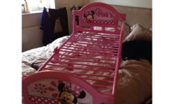 Used minni mouse toddler bed with matress both