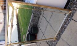 "Gold Framed bevelled mirror. Approx size overall 41"" x"