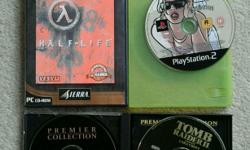 A mixture of PC games (Tomb Raider 2 aswell)