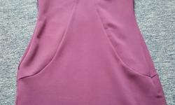 Size 10 miss selfridge plum bodycon dress with sliver