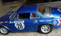 Alpine Renault rally car.1/16 scale(9 .5 inches long)