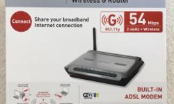 Belting ADSL Modem with Wireless G Router. 54 Mbps.
