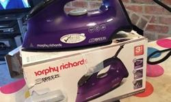 Used morphy Richards Breeze iron, a good clean iron in