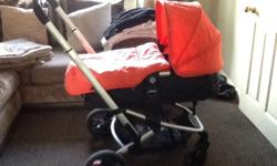 Mothercare xpedior pram/carrycot coral colour also with